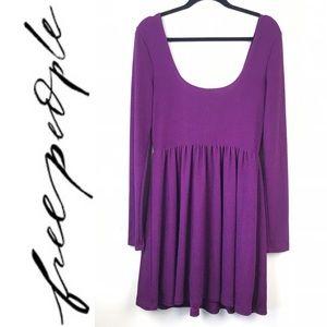 Free People purple Stretch tunic dress GB975118106